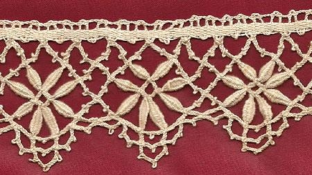 Handmade French Cluny Bobbin Lace
