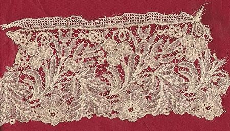Hand Made Brussels Belgian lace small piece