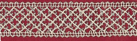 One yard 26 inches of handmade Hand braided Belgian Torchon bobbin Lace