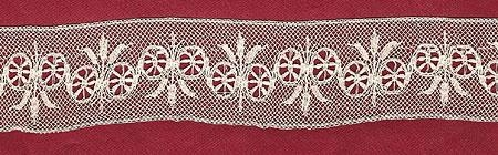 Machine made lace copy of French Valenciennes Lace