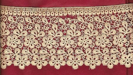 Machine made lace 25 inches x4 inches wide