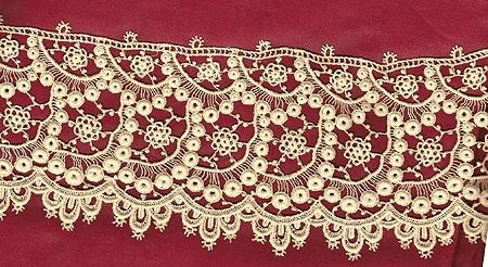 Machine Made Lace 36 inches by 3 inches wide