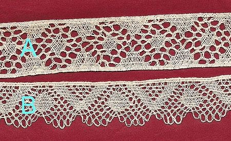 Machine Made lace copy by Leavers Mill of Bedfordshire Lace