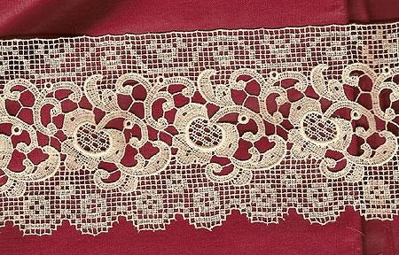 Machine Made lace 35 inches by 3 inches