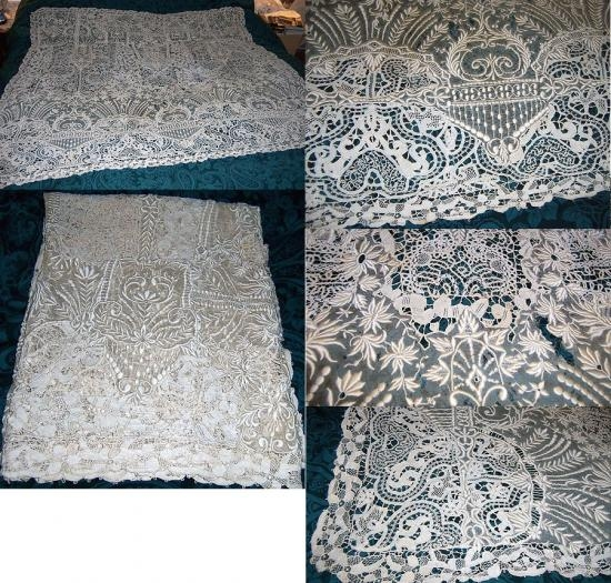 Italian Needlepoint Tablecloth, Flemish Lace