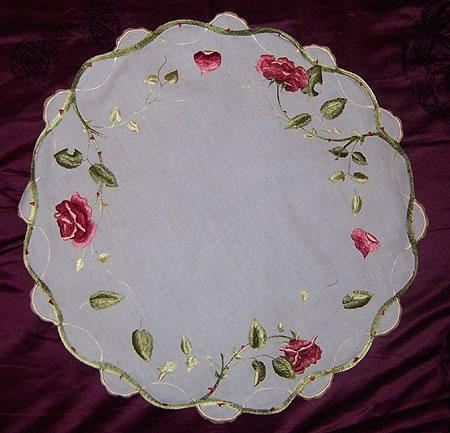 Silk Society Tablecloth 21  inches round