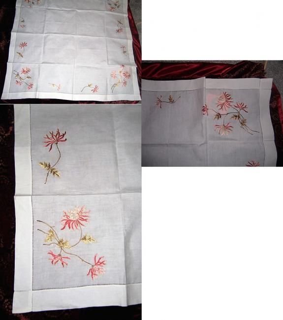 Silk Society 46x46 tablecloth