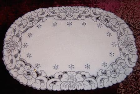 Three Madiera Cutwork placemats