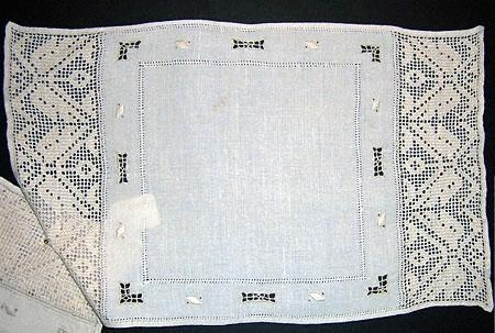 Hand Made Filet net linen Placemats