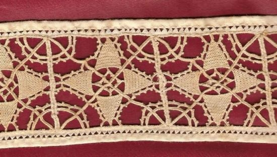 Hand Made Reticello lace 3 yards 14 inches by 2 inch.