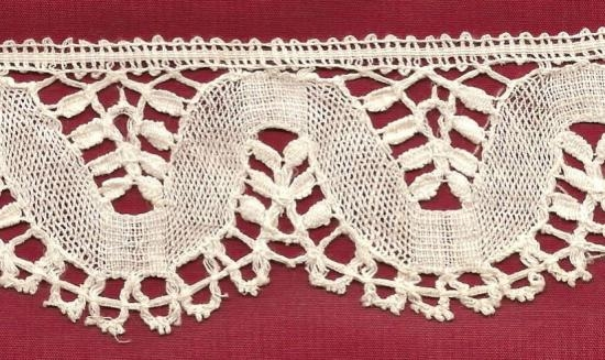 Hand made Belgian Torchon lace 3 yards 12 inches by 2 inches wide