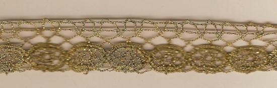 GOLD BOUILLON TRIM FROM EUROPE LATE 19TH CENTURY 2