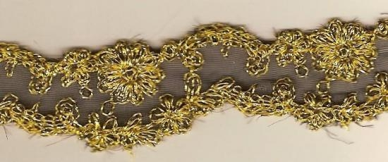 OLD TRIM GOLD TREADS ON LACE