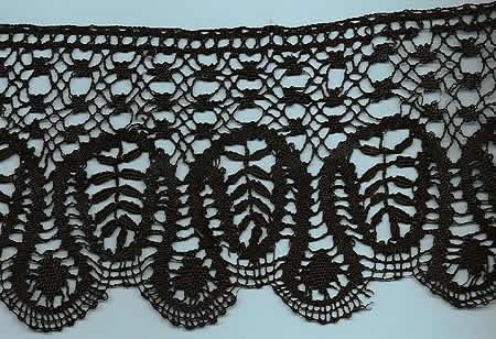 Handmade French LePuy Bobbin lace.