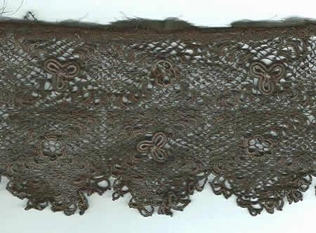 Hand made Irish Crochet 33 inches by 4 7/8 inches wide