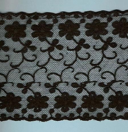 Gorgeous 2 yards x 4 5/8 inches wide black lace