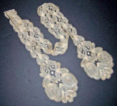 HANDMADE LACE LAPPET #2
