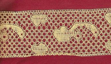 Machine made Belgian Flemish lace 1 1/2 inch