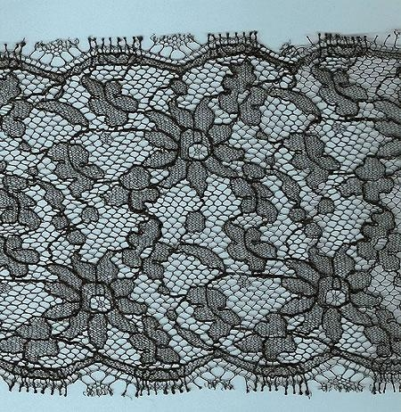 Machine made black lace 2 yards 12 inches x 4 inches wide