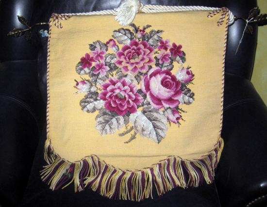 VICTORIAN BEADED HANGING TAPESTRY