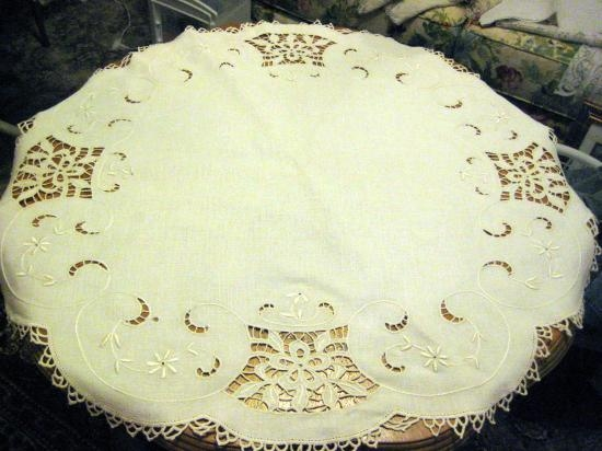 ITALIAN NEEDLE LACE CUTWORK CLOTH