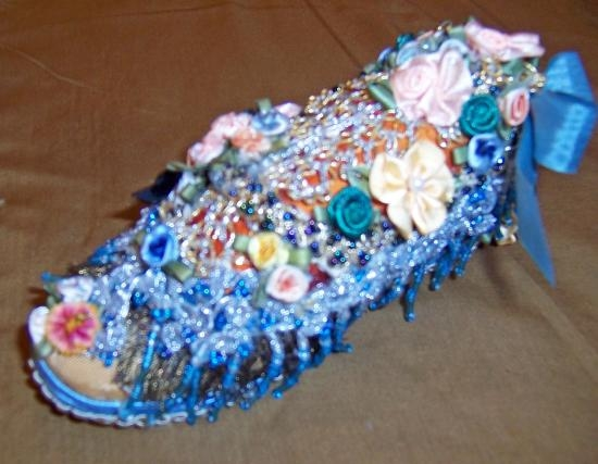 Pin Cushion Shoe Childs Vintage Shoe