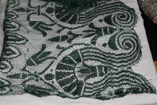 Hunter Green Silk 10 wide lace MML-003