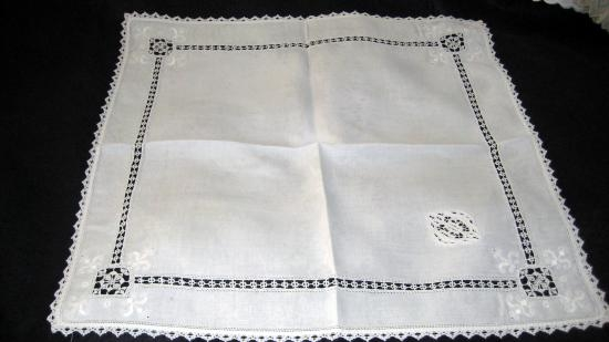 Large Italian Needlace Napkin HF  SQ-1