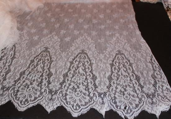 Machine Made French lace panel 22x26