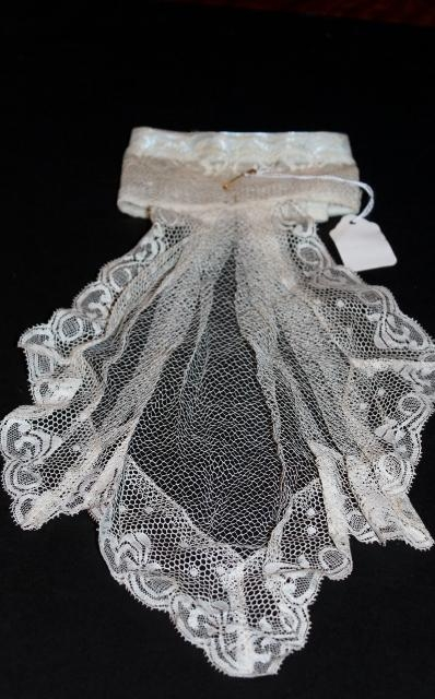 Antique handmade lace Jabot 15 inches