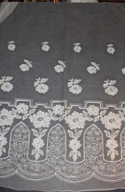 Brussels Needle Run Lace/ Tambour Lace Panel