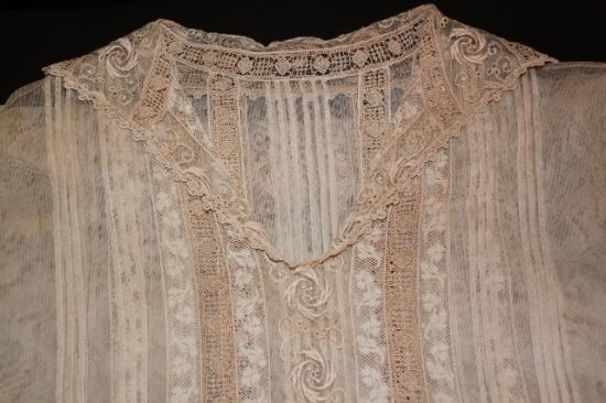 Antique handmade Lace CHILD dress size s-m