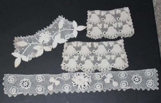 Irish Crochet Collar cuff Yoke SET-1