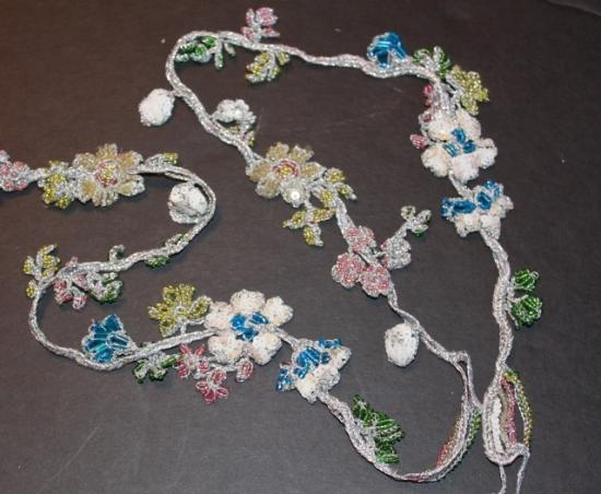 Handmade Trim Bead #7 inch wide flowers