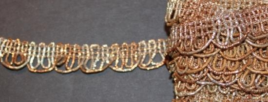 Antique handwoven gold trim #12