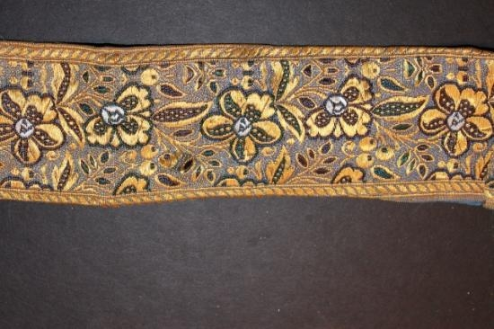 Antique silk ribbon trim #1  2 inches wide