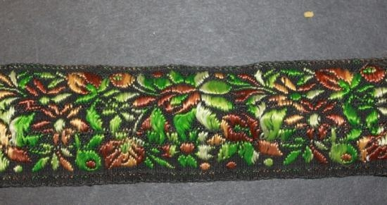 Vintage handwoven silk and cotton trim #13