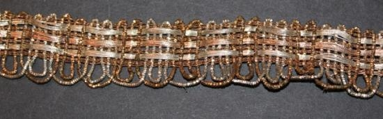 Antique handwoven three gold trim amazing #25