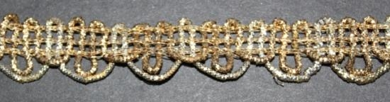 Handwoven antique two toned gold trim #31