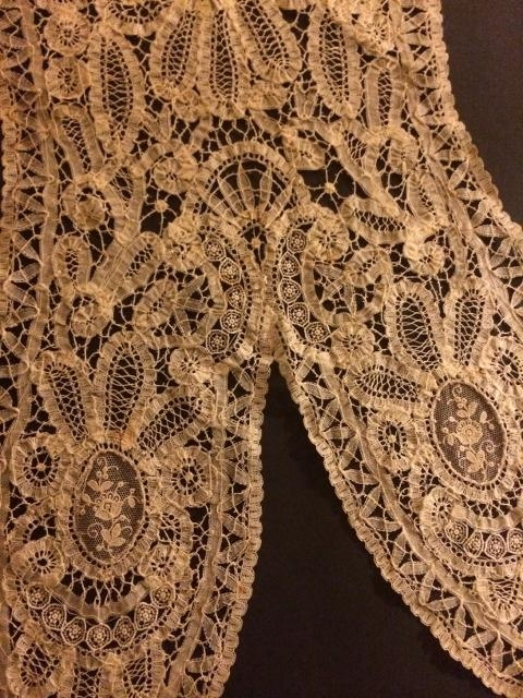 Handmade Brussels Lace Yoke,Collar. AMAZING PIECE!