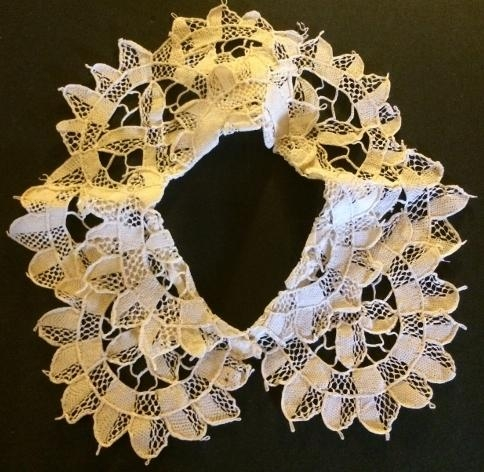 Handmade Italian Needle Lace Collar Child#737
