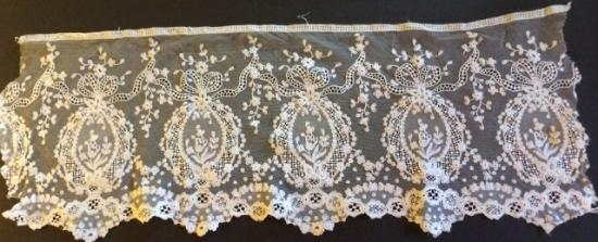 Handmade Alencon White lace Small panel  #4B