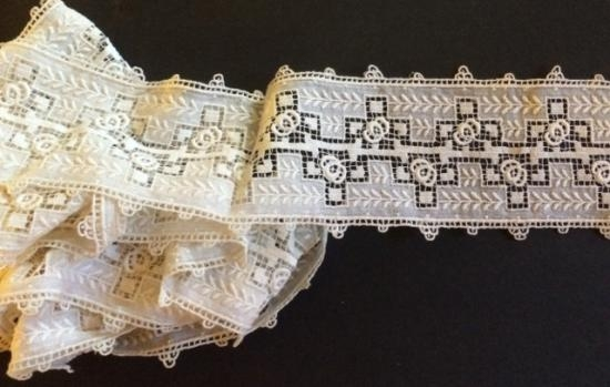 White lace trim beautiful piece #338