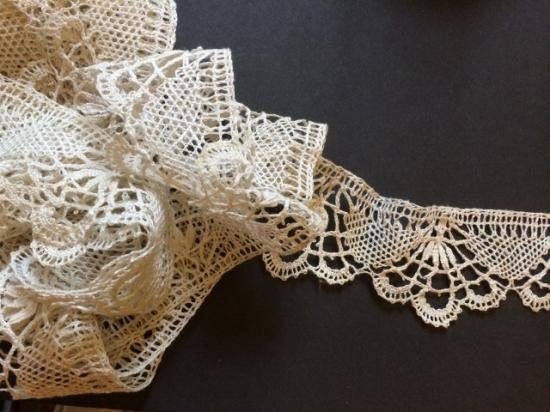 Beautiful Handmade soft Cluny Lace # 68