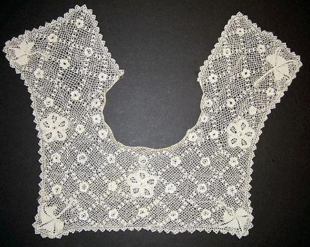 Large handmade Irish crochet collar