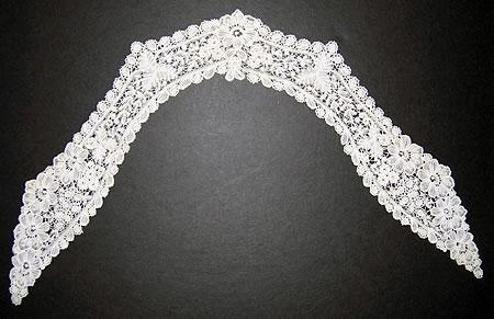 Handmade Brussels lace collar
